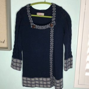 Anthropologie Ecote knitted wrap tunic swe…
